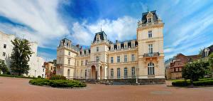 Обои Украина Львов Здания Дворец Городская площадь Potocki Palace