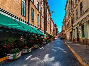 Фото Украина Львов Здания Улица