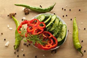Картинка Овощи Перец Огурцы Укроп
