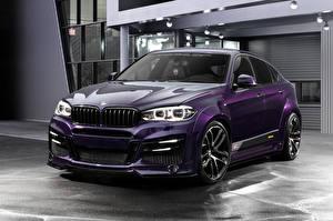 Фото BMW Фиолетовых 2015-18 Lumma Design CLR X6R автомобиль