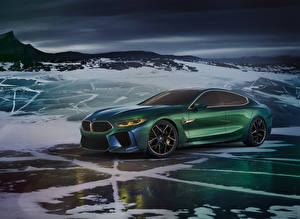 Фото BMW Зеленый 2018 Concept M8 Gran Coupe машина