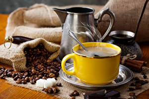 Обои Кофе Чашка Зерна Пища
