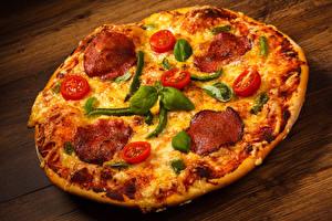 Картинка Быстрое питание Пицца Крупным планом
