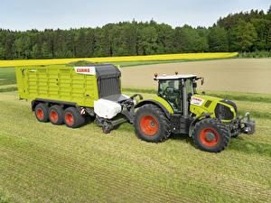 Фото Поля Сельскохозяйственная техника Трактор 2013-17 Claas Axion 830