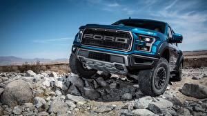 Картинки Ford Спереди SuperCrew 2019 Raptor F-150 машина