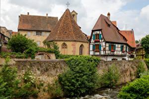 Фото Франция Здания Крыша Kaysersberg Alsace