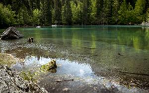 Картинка Франция Озеро Lake Vert Природа