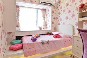 Фотографии Интерьер Детская комната Дизайн Кровать Окно
