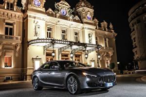 Обои Maserati Серый Дорогой 2017-18 Ghibli S GranLusso Автомобили