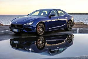 Фото Maserati Синий Металлик 2017-18 Ghibli S GranSport Машины