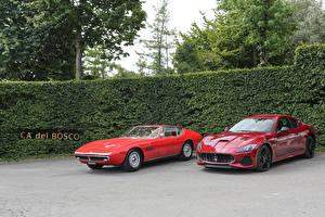 Фотография Мазерати Ретро Двое Красных Металлик авто