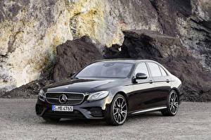 Фото Mercedes-Benz Черный Металлик 2016 AMG E 43 4Matic Автомобили