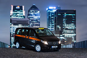 Фотография Мерседес бенц Такси - Автомобили Черный 2017 Vito Taxi 114 CDI Авто