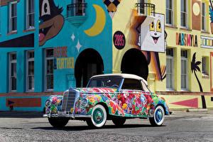 Обои Мерседес бенц Стайлинг Кабриолет 220 Cabriolet A  Earthly Paradise  Art Car by Hiro Yamagata