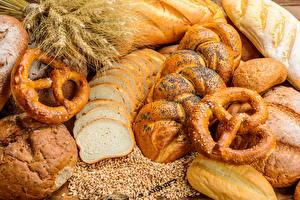 Фото Выпечка Хлеб Булочки Зерна