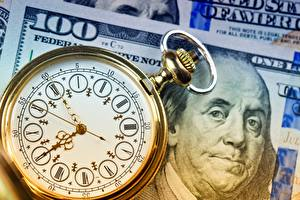 Картинка Часы Карманные часы Деньги Циферблат