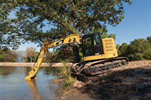 Обои Пруд Экскаватор 2016-17 Caterpillar 315F L Еда картинки
