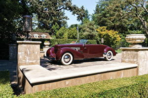 Картинка Ретро Бордовый Кабриолет 1937 Cord 812 Supercharged Convertible Coupe Авто