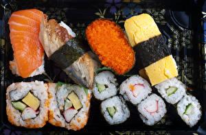 Обои Морепродукты Суси Рыба Икра