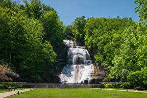 Обои Штаты Водопады Нью-Йорк Утес Montour Falls Природа
