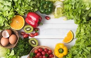 Картинка Овощи Перец Киви Пища