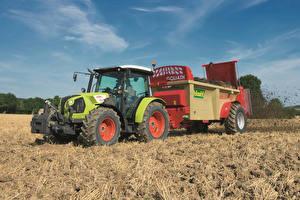 Фото Сельскохозяйственная техника Поля Трактор 2015-17 Claas Atos 350