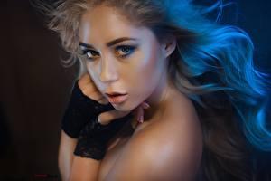 Фотографии Смотрит Макияж Красивые Лицо Alexander Drobkov-Dark, Katrin Deart Девушки