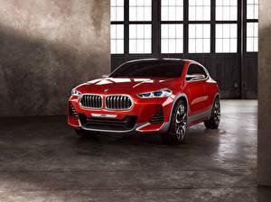 Обои БМВ Красная Металлик 2016 Concept X2 машины