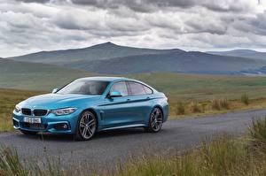 Картинки BMW Голубых Металлик 2017 420d Gran Coupe M Sport авто