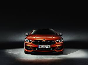 Фото BMW Спереди Оранжевый Купе 8-Series 2018
