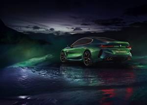 Фото BMW Зеленый Купе M8 Gran Coupe Concept Автомобили