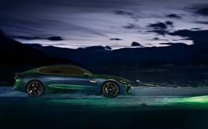 Фото BMW Зеленые Купе Сбоку M8 Gran Coupe Concept Автомобили