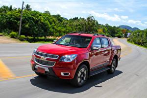 Фотография Шевроле Красные Движение Пикап кузов Металлик 2015 Colorado High Country  Sport Edition машины