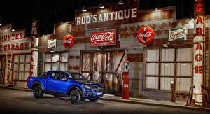 Обои Chevrolet Синяя Пикап кузов Металлик 2018 Colorado Centennial XCab авто