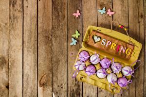 Картинки Пасха Бабочки Весенние Доски Яйца