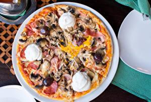 Картинка Быстрое питание Пицца Оливки