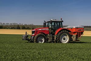 Картинки Поля Сельскохозяйственная техника Трактор 2014-17 Massey Ferguson 7720 Worldwide