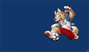 Фотография Футбол Мяч Mascotte FIFA World Cup 2018