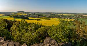 Обои Германия Поля Saxony Oberlausitz Природа