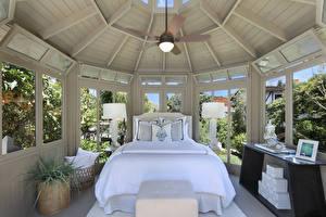 Обои Интерьер Дизайн Спальни Кровать Лампа