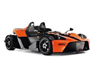 Картинка КТМ Белый фон Оранжевый Углепластик 2008-18 X-Bow Clubsport Авто