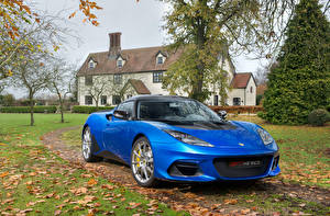 Фотография Lotus Синий 2018 Evora GT410 Sport Worldwide Автомобили