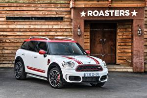 Обои Mini Белый Металлик 2017 John Cooper Works Countryman Автомобили картинки