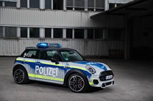 Картинки Мини Тюнинг Полицейские 2018 John Cooper Works Polizei Автомобили