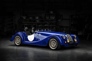 Картинка Morgan Motor Company Синий Металлик Кабриолет 2018 Plus 8  50th Anniversary Авто