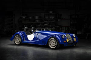 Картинка Morgan Motor Company Синий Металлик Кабриолет 2018 Plus 8  50th Anniversary автомобиль