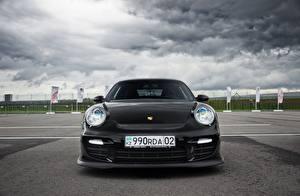 Картинки Порше Спереди Черный 911 Almaty Black Front Авто