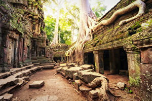 Картинка Храмы Развалины Мха Angkor Wat Biggest Hindu temple Cambodia