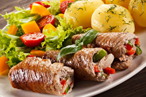 Картинки Вторые блюда Мясные продукты Картофель Овощи Продукты питания
