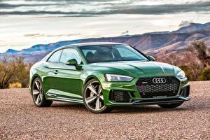 Фото Audi Зеленый Coupe RS 5 Машины